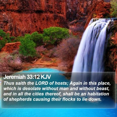 Jeremiah 33:12 KJV Bible Verse Image
