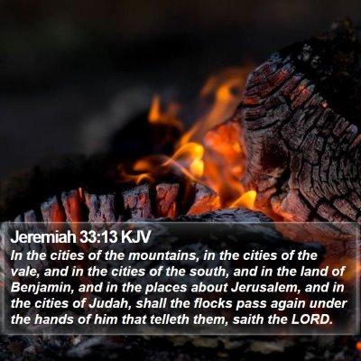 Jeremiah 33:13 KJV Bible Verse Image