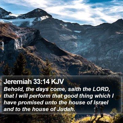 Jeremiah 33:14 KJV Bible Verse Image