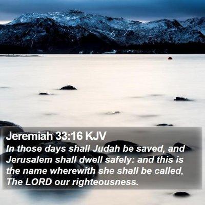 Jeremiah 33:16 KJV Bible Verse Image