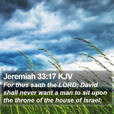 Jeremiah 33:17 KJV Bible Verse Image