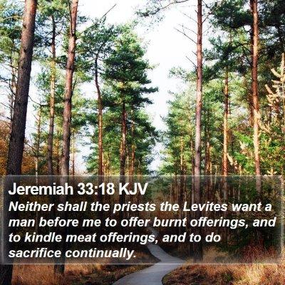 Jeremiah 33:18 KJV Bible Verse Image