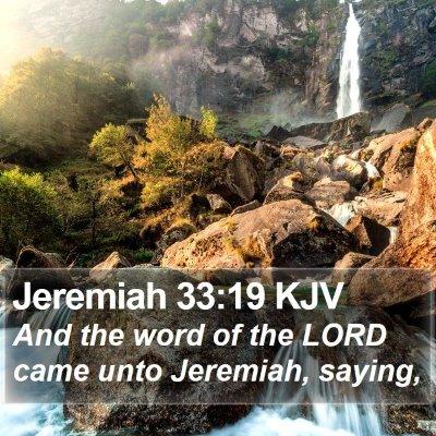 Jeremiah 33:19 KJV Bible Verse Image
