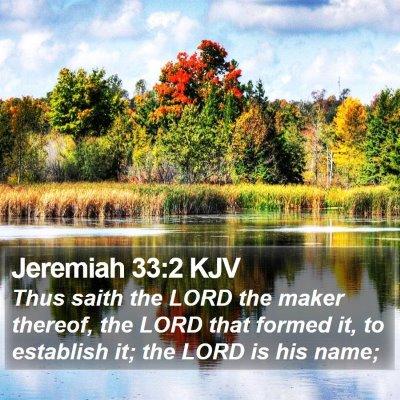 Jeremiah 33:2 KJV Bible Verse Image