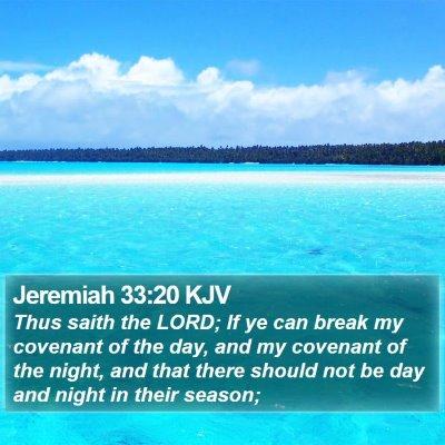 Jeremiah 33:20 KJV Bible Verse Image
