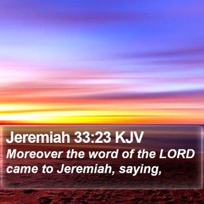 Jeremiah 33:23 KJV Bible Verse Image