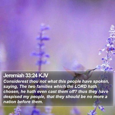 Jeremiah 33:24 KJV Bible Verse Image