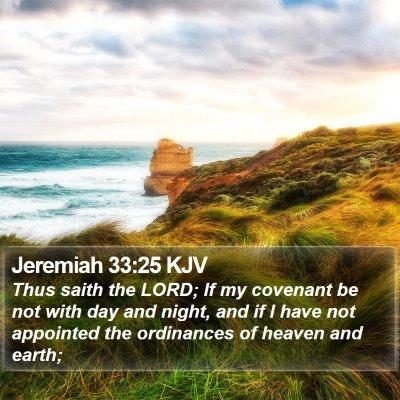 Jeremiah 33:25 KJV Bible Verse Image