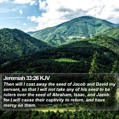 Jeremiah 33:26 KJV Bible Verse Image