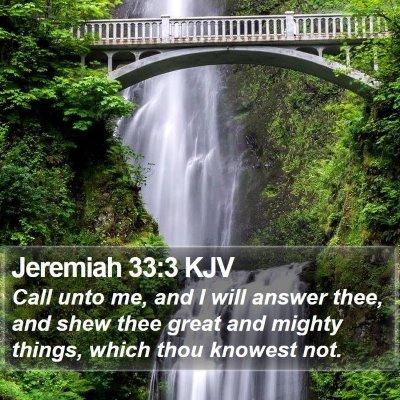 Jeremiah 33:3 KJV Bible Verse Image