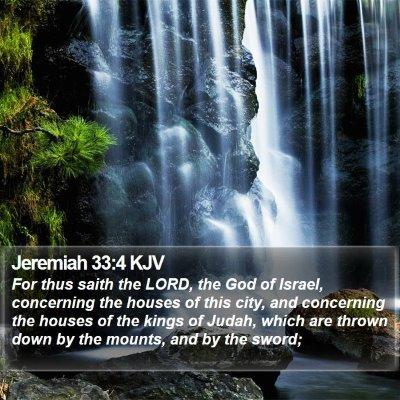 Jeremiah 33:4 KJV Bible Verse Image