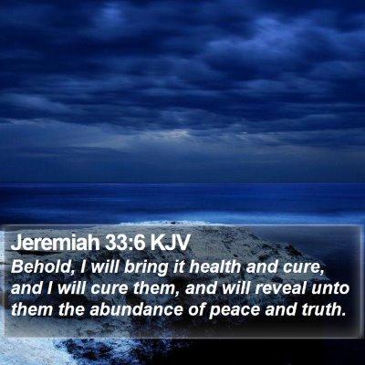 Jeremiah 33:6 KJV Bible Verse Image