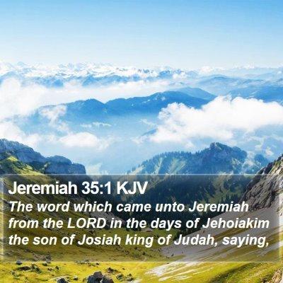 Jeremiah 35:1 KJV Bible Verse Image
