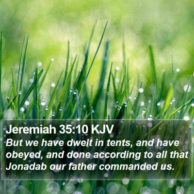 Jeremiah 35:10 KJV Bible Verse Image