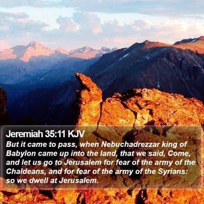 Jeremiah 35:11 KJV Bible Verse Image