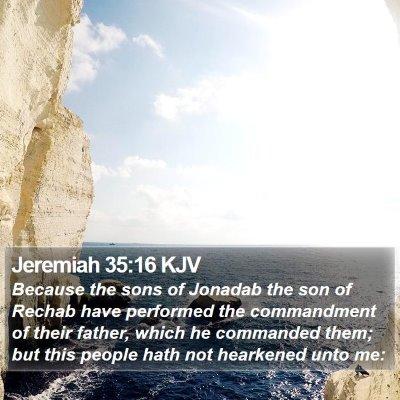 Jeremiah 35:16 KJV Bible Verse Image