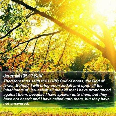 Jeremiah 35:17 KJV Bible Verse Image