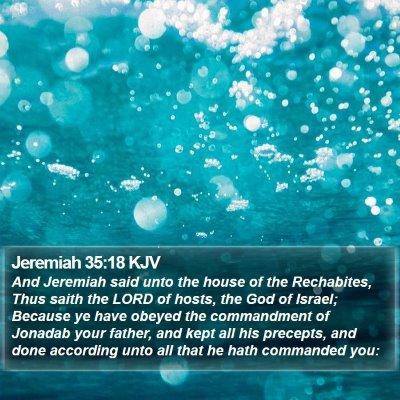 Jeremiah 35:18 KJV Bible Verse Image