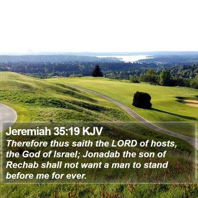 Jeremiah 35:19 KJV Bible Verse Image