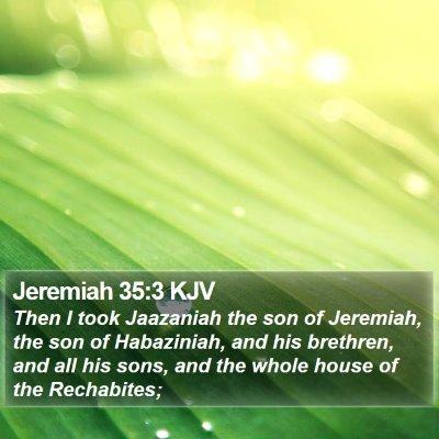 Jeremiah 35:3 KJV Bible Verse Image