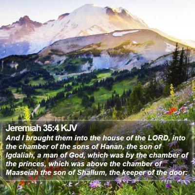 Jeremiah 35:4 KJV Bible Verse Image