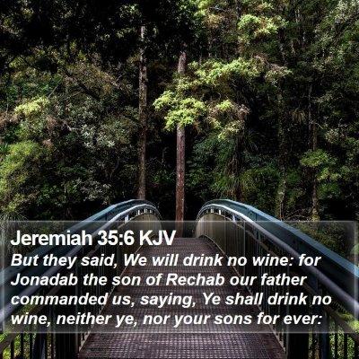 Jeremiah 35:6 KJV Bible Verse Image