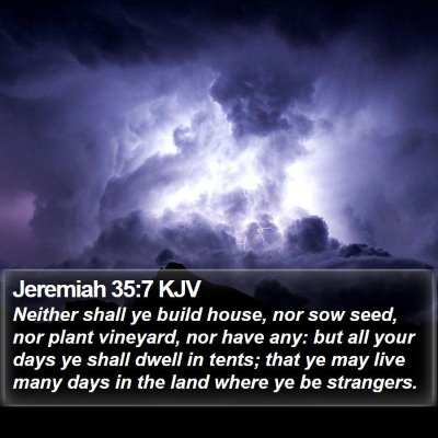 Jeremiah 35:7 KJV Bible Verse Image