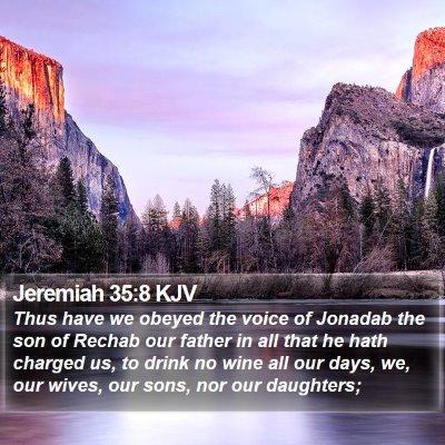 Jeremiah 35:8 KJV Bible Verse Image