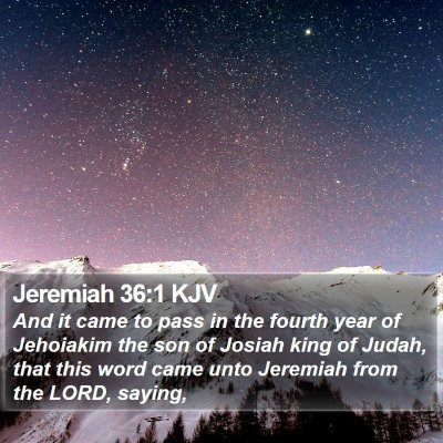 Jeremiah 36:1 KJV Bible Verse Image