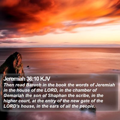 Jeremiah 36:10 KJV Bible Verse Image