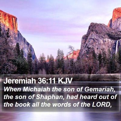 Jeremiah 36:11 KJV Bible Verse Image