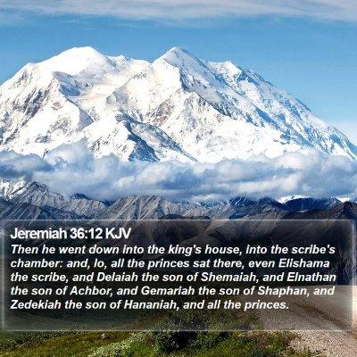 Jeremiah 36:12 KJV Bible Verse Image