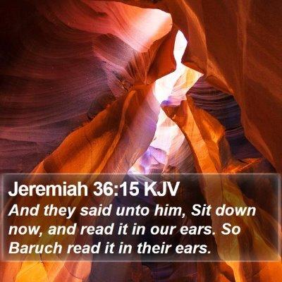Jeremiah 36:15 KJV Bible Verse Image