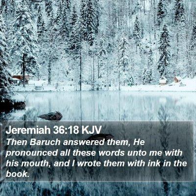 Jeremiah 36:18 KJV Bible Verse Image
