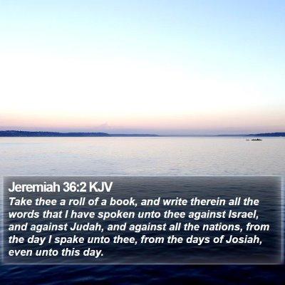 Jeremiah 36:2 KJV Bible Verse Image