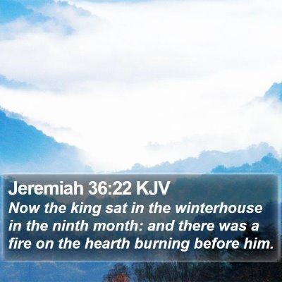Jeremiah 36:22 KJV Bible Verse Image