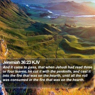 Jeremiah 36:23 KJV Bible Verse Image