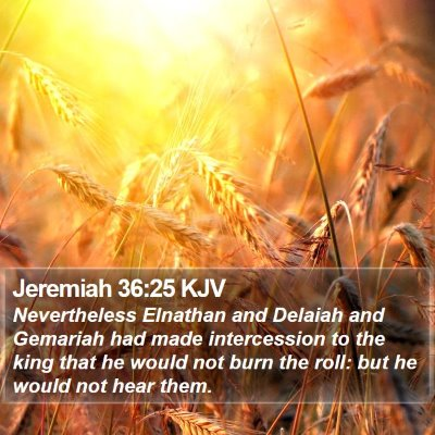 Jeremiah 36:25 KJV Bible Verse Image