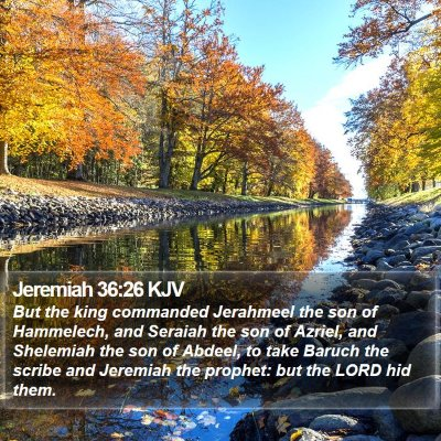 Jeremiah 36:26 KJV Bible Verse Image