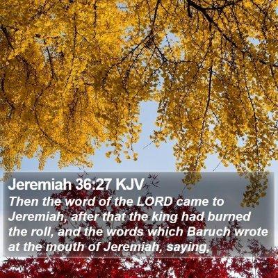 Jeremiah 36:27 KJV Bible Verse Image