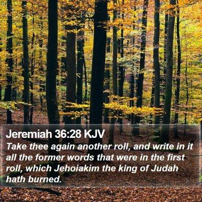 Jeremiah 36:28 KJV Bible Verse Image