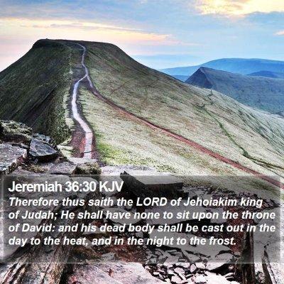 Jeremiah 36:30 KJV Bible Verse Image