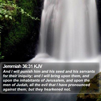 Jeremiah 36:31 KJV Bible Verse Image
