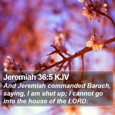Jeremiah 36:5 KJV Bible Verse Image