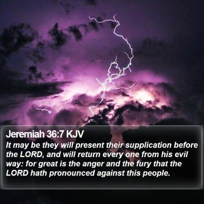 Jeremiah 36:7 KJV Bible Verse Image