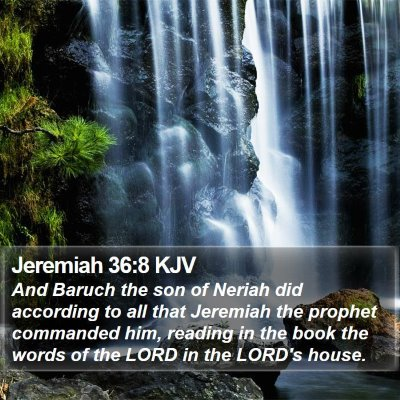 Jeremiah 36:8 KJV Bible Verse Image