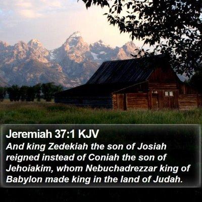 Jeremiah 37:1 KJV Bible Verse Image