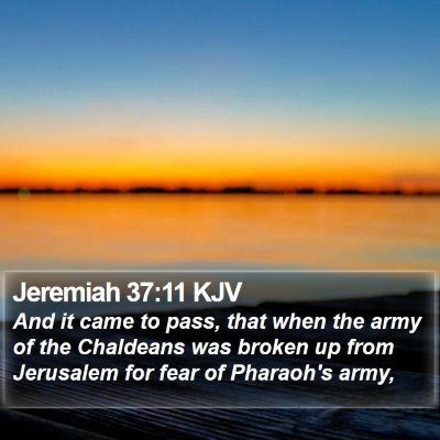 Jeremiah 37:11 KJV Bible Verse Image