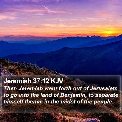 Jeremiah 37:12 KJV Bible Verse Image