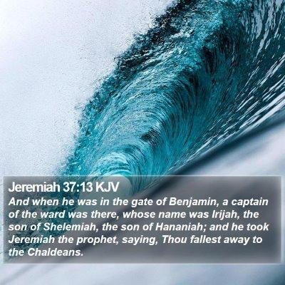 Jeremiah 37:13 KJV Bible Verse Image